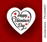 happy valentine's day card with ... | Shutterstock .eps vector #791104057