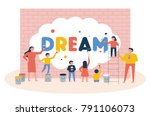 the concept that teachers and... | Shutterstock .eps vector #791106073