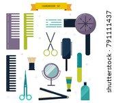 flat design elements of... | Shutterstock .eps vector #791111437