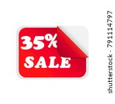 sale 35  sticker isolated on... | Shutterstock .eps vector #791114797