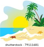 landscape of a coast of... | Shutterstock .eps vector #79111681