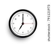 black classic clock. vector... | Shutterstock .eps vector #791121973