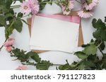 workspace. wedding invitation... | Shutterstock . vector #791127823