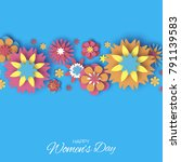 colorful 8 march. happy women's ... | Shutterstock .eps vector #791139583