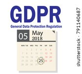 gdpr general data protection... | Shutterstock .eps vector #791140687
