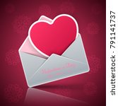 valentine s day. heart in an... | Shutterstock .eps vector #791141737