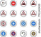 line vector icon set  ... | Shutterstock .eps vector #791142433