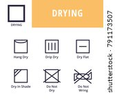 drying. textile care symbols | Shutterstock .eps vector #791173507