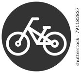 bicycle icon in circle. vector. | Shutterstock .eps vector #791182837
