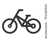 mountain bike icon. vector. | Shutterstock .eps vector #791182963