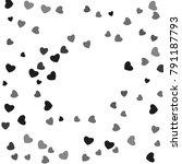 hearts confetti  bright...   Shutterstock .eps vector #791187793