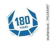180 years design template.... | Shutterstock .eps vector #791192497