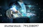 businessman on blurred... | Shutterstock . vector #791208097