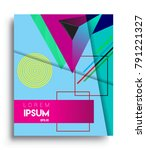 cover design template with...   Shutterstock .eps vector #791221327