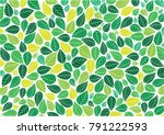 abstract colorful leaves... | Shutterstock .eps vector #791222593
