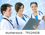 medical team working against... | Shutterstock . vector #79124428