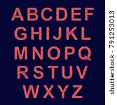 crystal texture font. vector... | Shutterstock .eps vector #791253013
