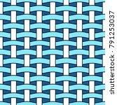 basket weave seamless pattern.... | Shutterstock .eps vector #791253037