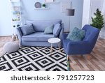 interior of living room with... | Shutterstock . vector #791257723