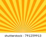 abstract yellow sun rays... | Shutterstock .eps vector #791259913