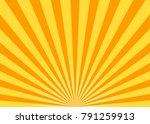 abstract yellow sun rays... | Shutterstock .eps vector #791259913