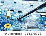 technician repairing inside... | Shutterstock . vector #791270713
