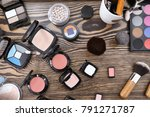 decorative cosmetics and tools... | Shutterstock . vector #791271787