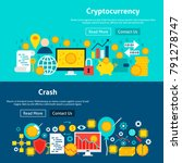 website cryptocurrency banners. ... | Shutterstock .eps vector #791278747