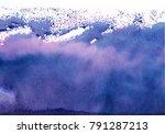 dark blue watercolor background ... | Shutterstock . vector #791287213