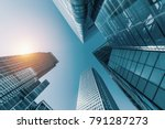 skyscrapers in a finance... | Shutterstock . vector #791287273