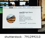 Small photo of STRASBOURG, FRANCE - JAN 11, 2018: About this Mac information of the new powerful Apple iMac Pro workstation featuring Intel Xeon W CPU, 32 GB RAM and Radion Pro Vega GPU