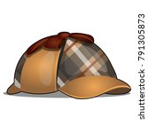 hat detective isolated on white ...   Shutterstock .eps vector #791305873