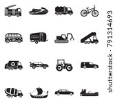 transport and vehicles icons....   Shutterstock .eps vector #791314693