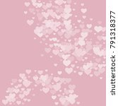 valentine background with... | Shutterstock .eps vector #791318377