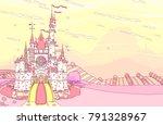 vector wonderland fairytale... | Shutterstock .eps vector #791328967