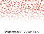 seamless pattern with falling... | Shutterstock . vector #791344573