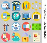 icons set about digital... | Shutterstock .eps vector #791346013