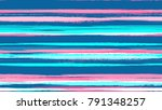 watercolor dry brush stripes in ... | Shutterstock .eps vector #791348257