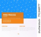 mind process concept with thin...   Shutterstock .eps vector #791348977