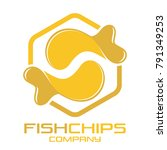 fish and chips logo | Shutterstock .eps vector #791349253