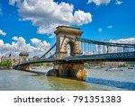 chain bridge on danube river in ...   Shutterstock . vector #791351383