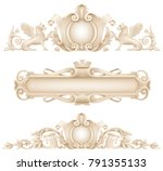 classic architectural facade... | Shutterstock .eps vector #791355133