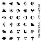 weather icons set | Shutterstock .eps vector #791362633