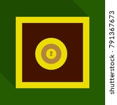 metal bank safe vector icon in... | Shutterstock .eps vector #791367673
