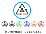 ripple recycling rounded icon.... | Shutterstock .eps vector #791371663