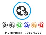 ripple coin valid rounded icon. ... | Shutterstock .eps vector #791376883