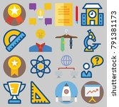 icons set about school and... | Shutterstock .eps vector #791381173