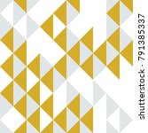triangles and rhombs geometric... | Shutterstock .eps vector #791385337