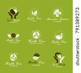 homeopathy creative symbols... | Shutterstock .eps vector #791389273