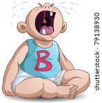 a vector illustration of a baby ... | Shutterstock .eps vector #79138930